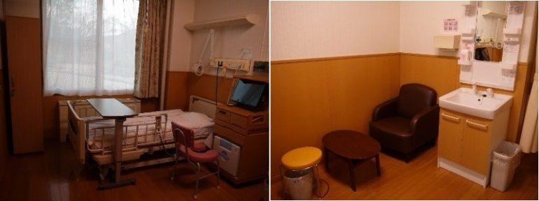 入院病室:各部屋にトイレ・洗面台があります